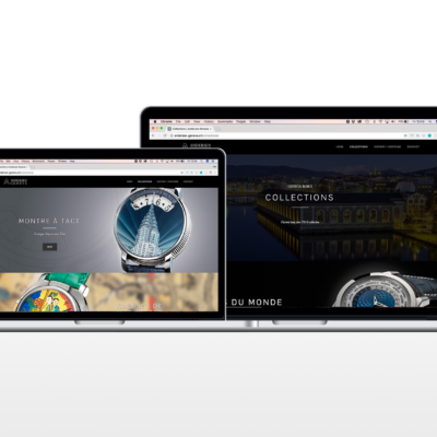 Andersen Geneve, Watch Website designed by Joe Li. A freelance web developer from West London.