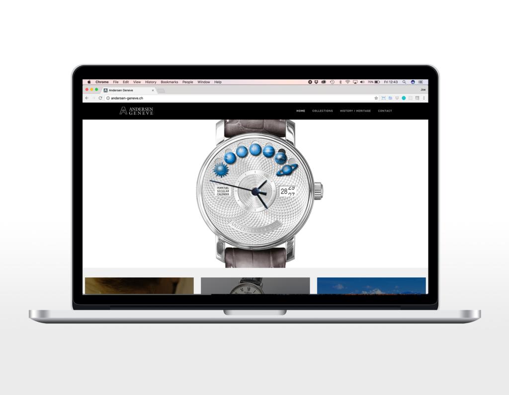 Andersen Geneve, Watch Website designed by Joe Li. A freelance web developer from West London.